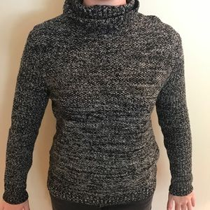Black and White Speckled Turtleneck